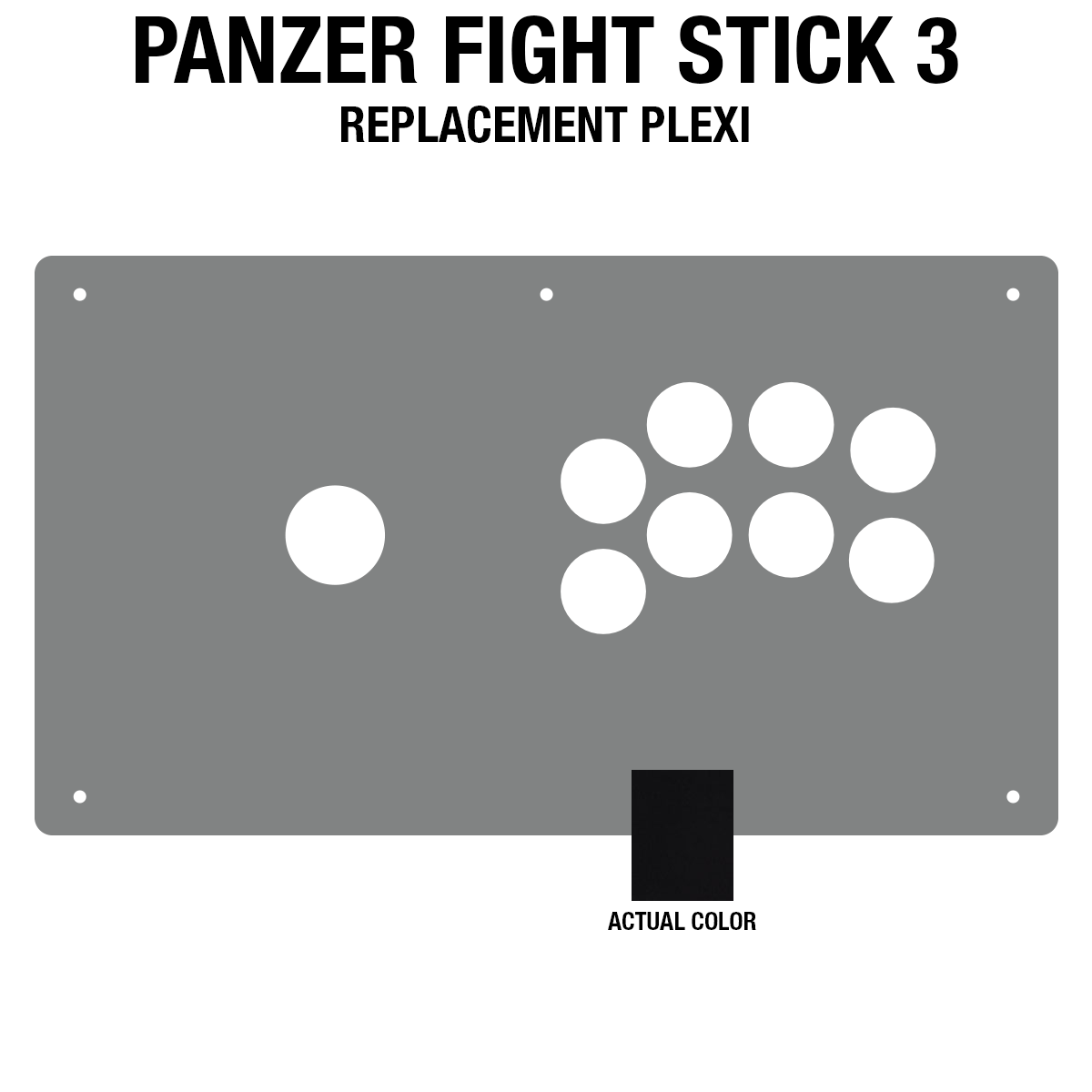 Panzer Fight Stick 3 [KOREAN EDITION] Plexi - Black Frosted (8 Buttons)