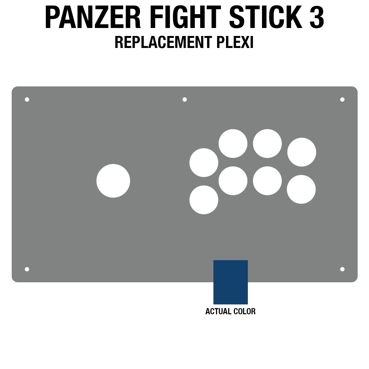 Panzer Fight Stick 3 [KOREAN EDITION] Plexi - Blue Frosted (8 Buttons)