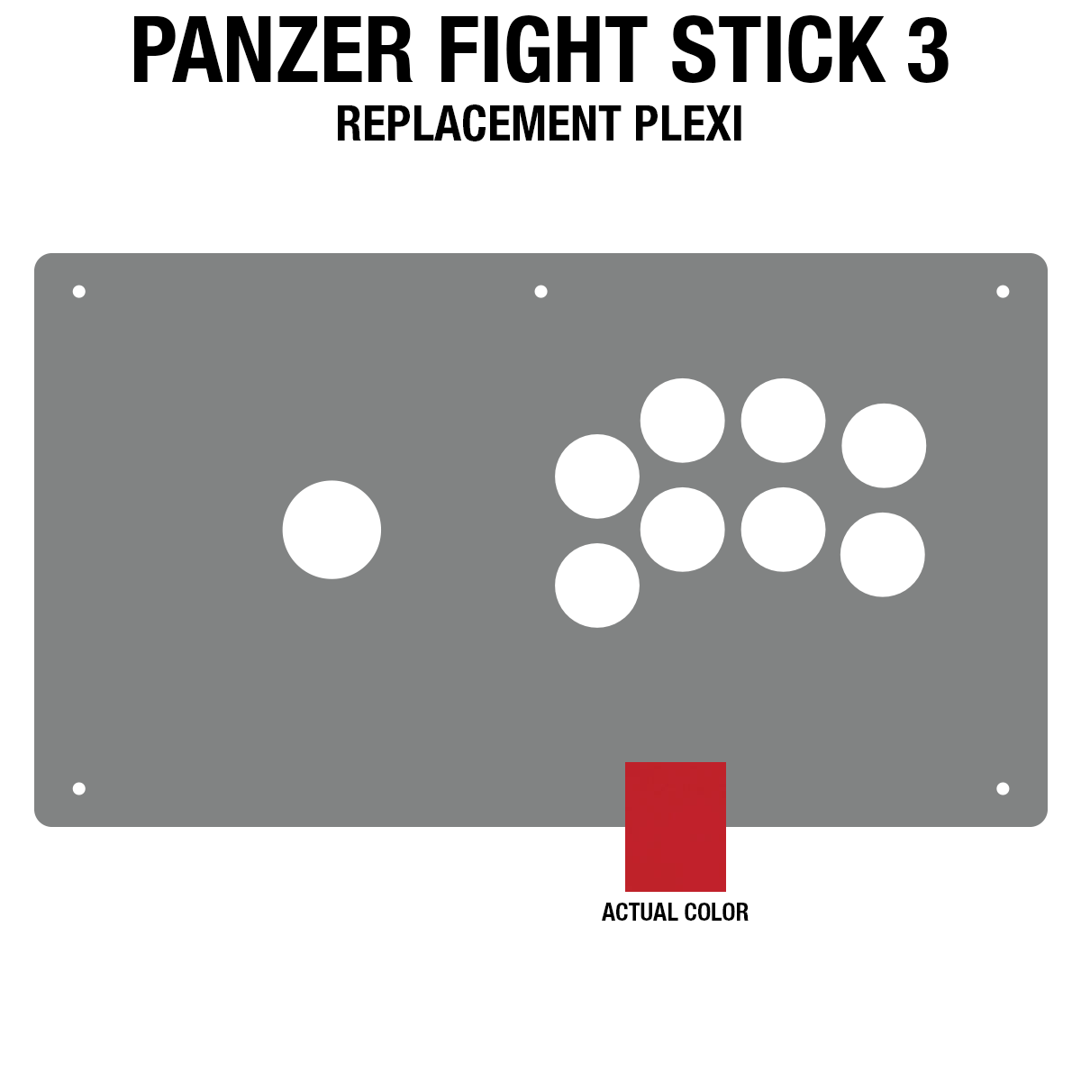 Panzer Fight Stick 3 [KOREAN EDITION] Plexi - Red Frosted (8 Buttons)