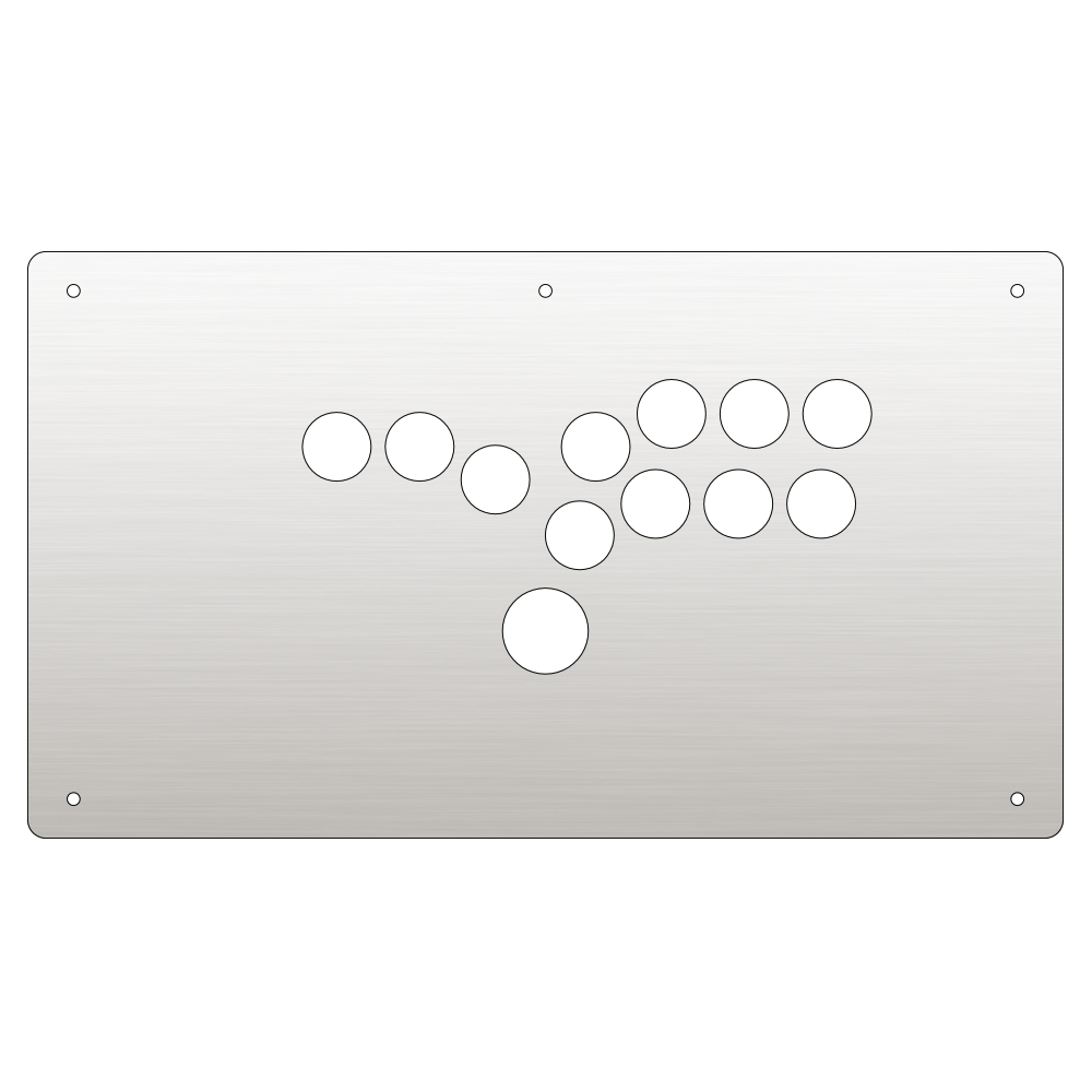 Panzer Fight Stick 3 [HITBOX] Plexi - Clear (8 Buttons)