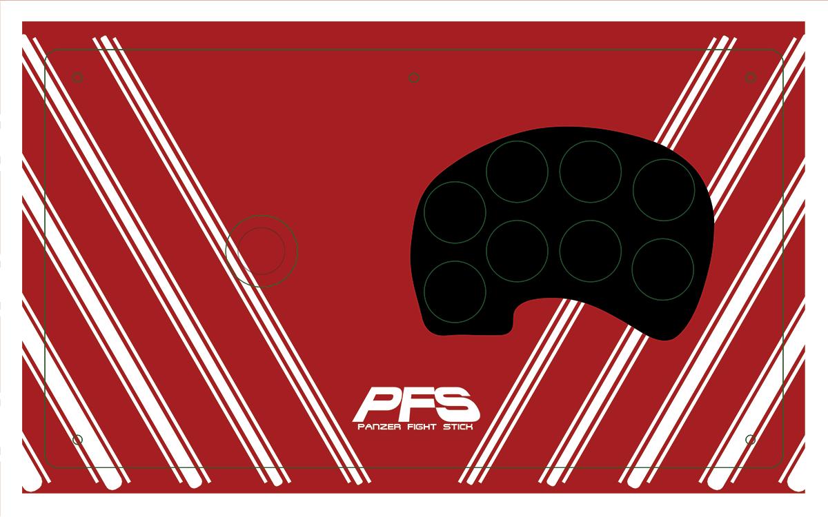 Panzer Fight Stick 3 - Printed Plexi  [Neo-Geo MVS]