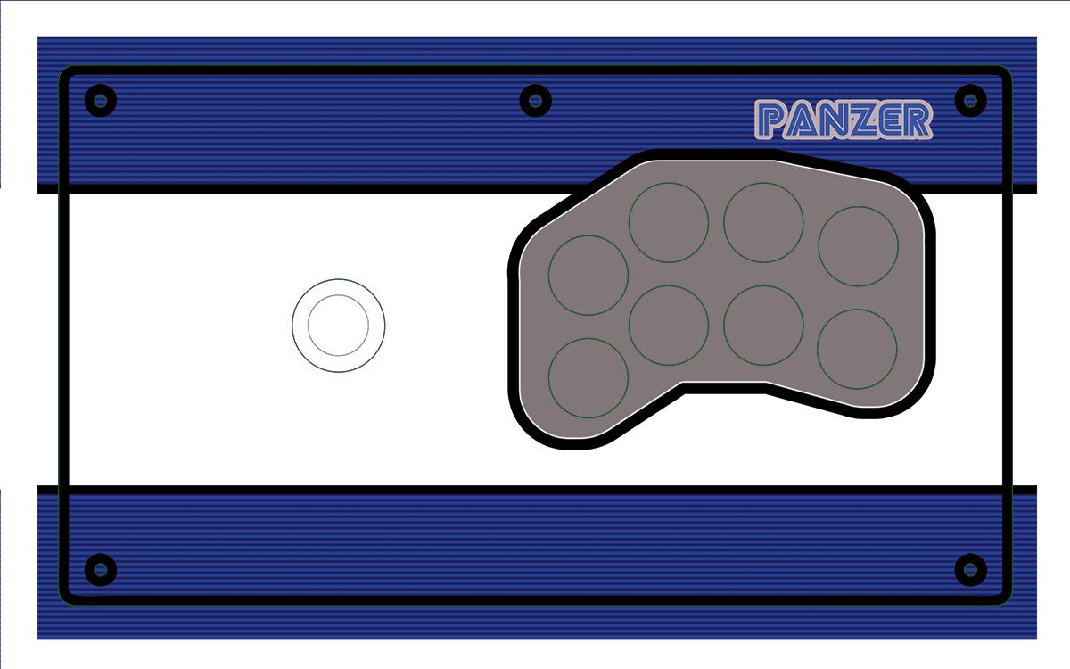 Panzer Fight Stick 3 - Printed Plexi  [Aero]