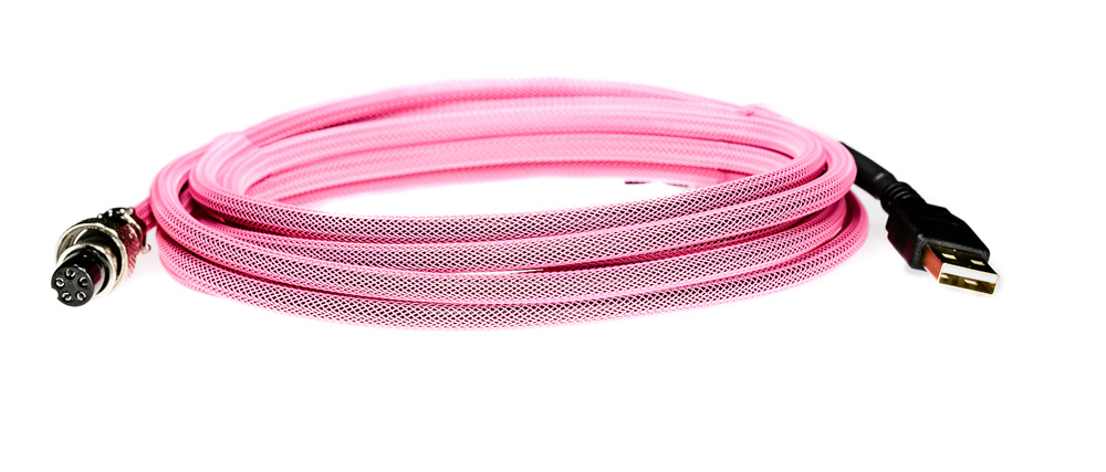 Pro Cable with Pink TechFlex USB Cable