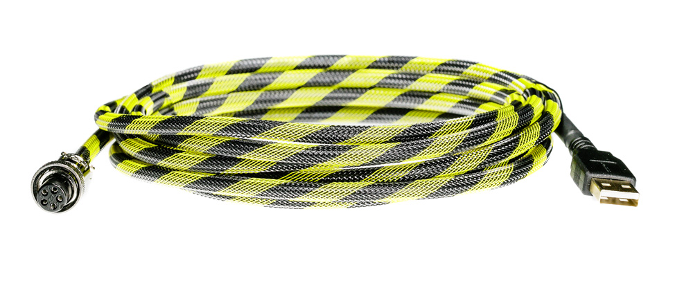 Pro Cable with Yellow/Black TechFlex USB Cable