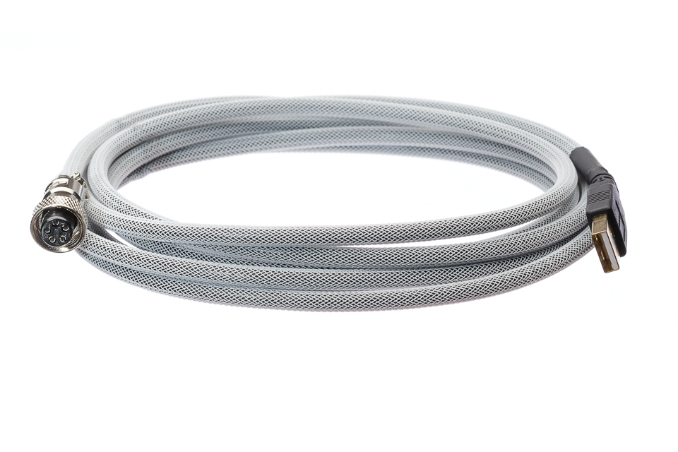 Pro Cable with White TechFlex USB Cable