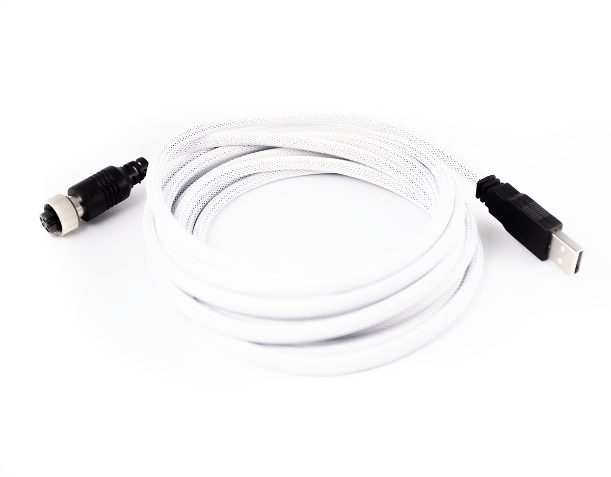 Pro Cable with White TechFlex USB Cable (Version 2)