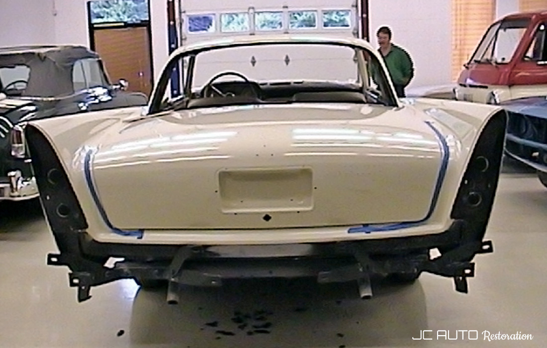 When Darla first arrived at JC Auto Restoration, she was a painted, rolling, empty shell that needed everything, including major disassembly to properly align the body panels.