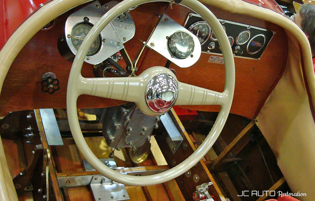 Vintage hydroplane interior