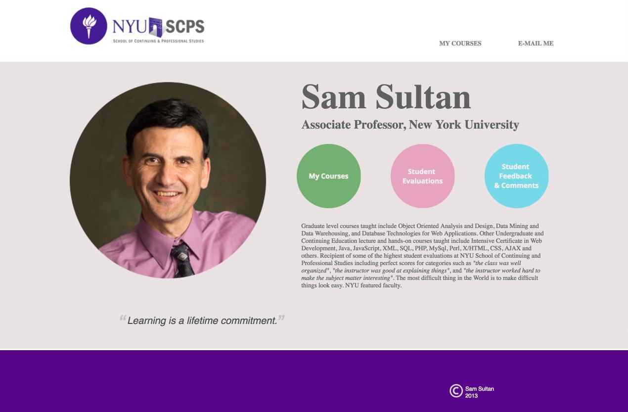 Sam Sultan Website