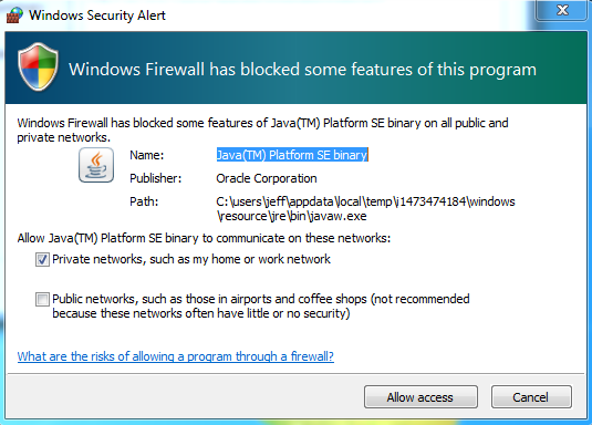 Coldfusion Java Firewall