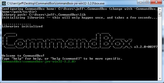 Commandbox Console