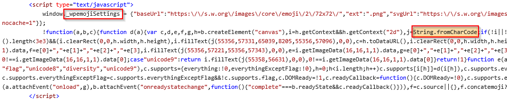 Emoji Settings JavaScript