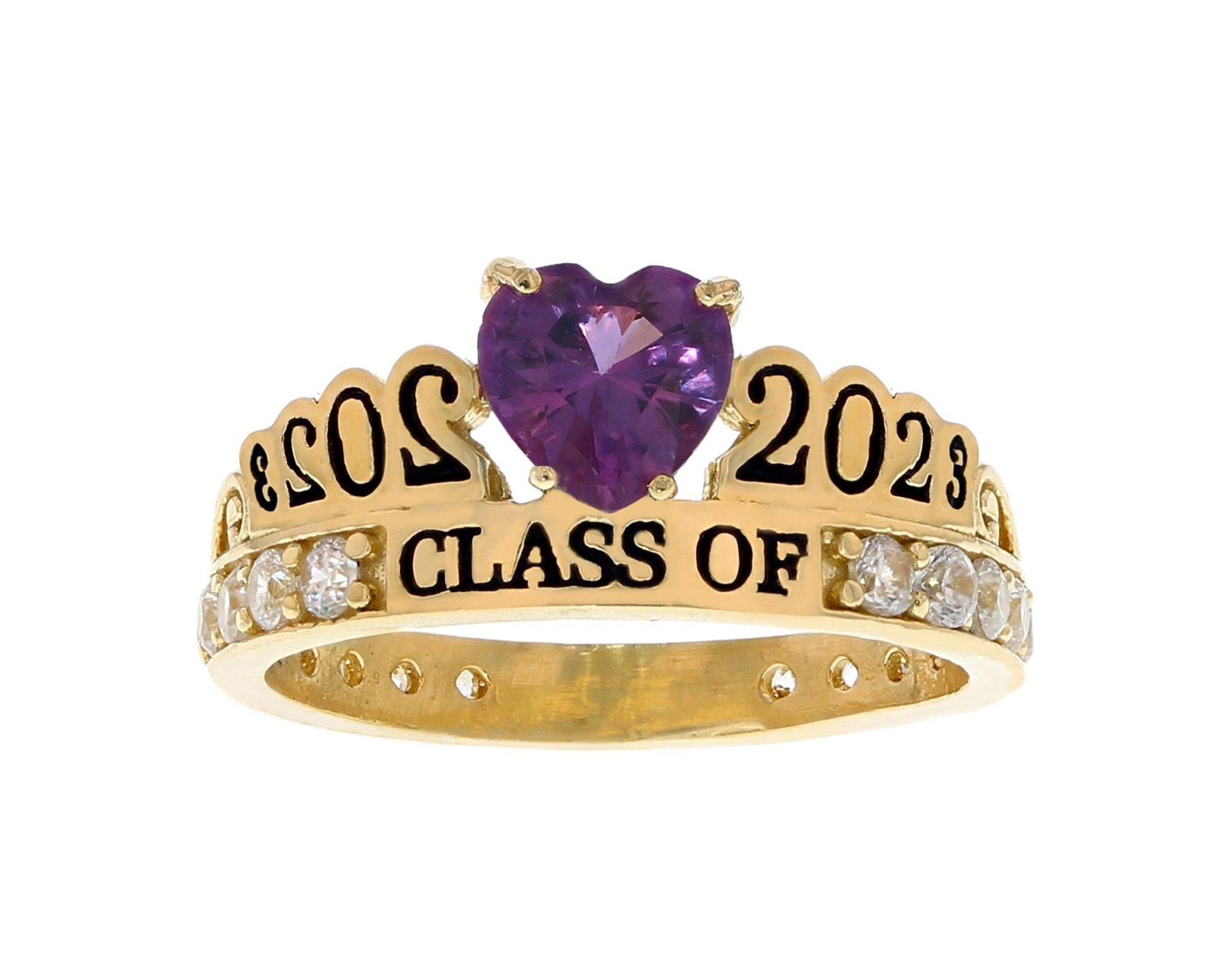 10k or 14k Gold Simulated Alexandrite June Birthstone 2020 Graduation Ring