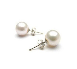 14kt White Gold Pearl Earrings