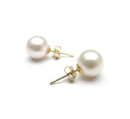 14kt Yellow Gold Akoya Pearl Earrings