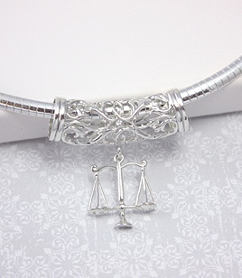 Sterling Silver Omega Slide Necklace sterling silver scales of justice