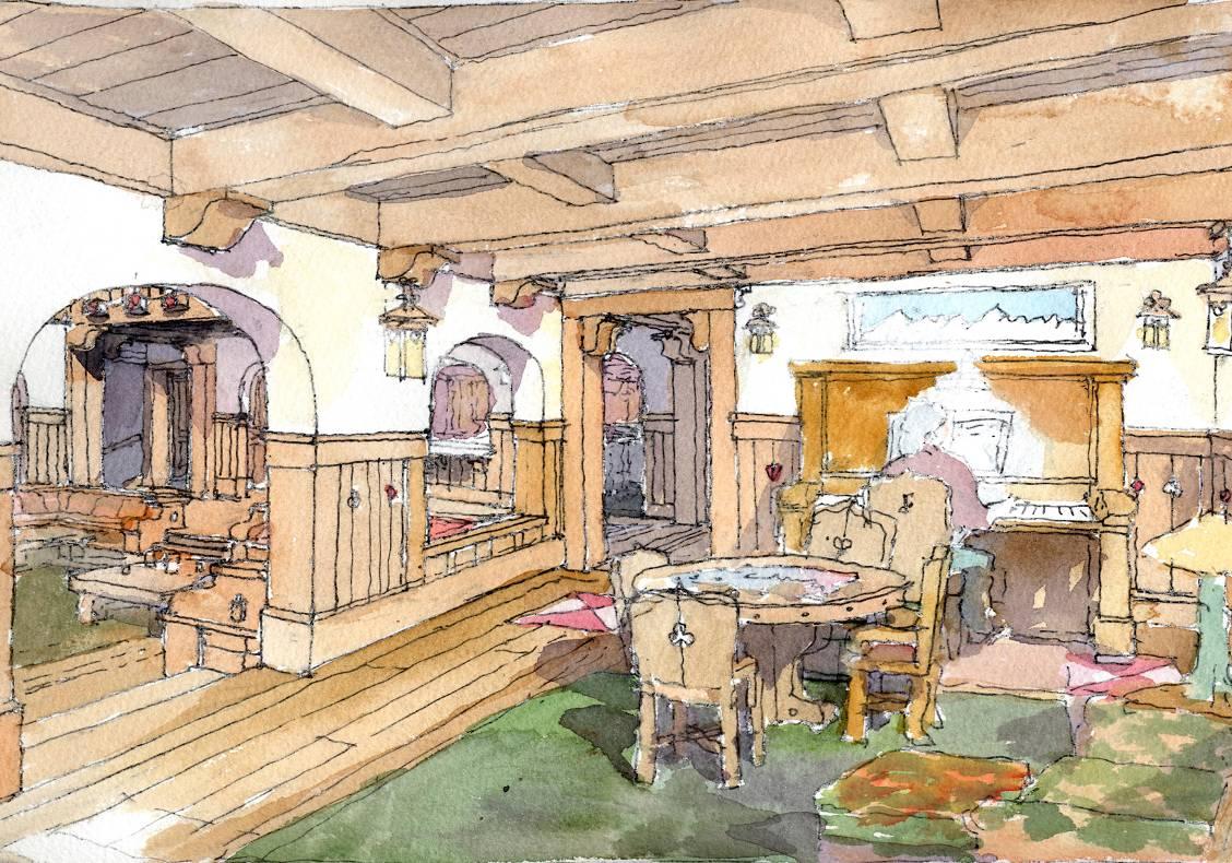Game room rendering