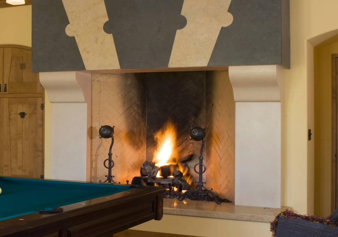 Poolroom fireplace