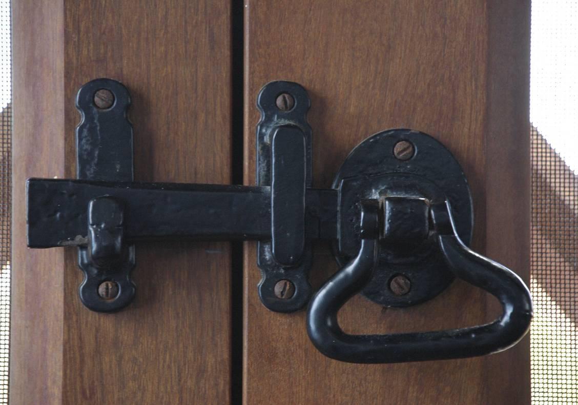 Door latch detail
