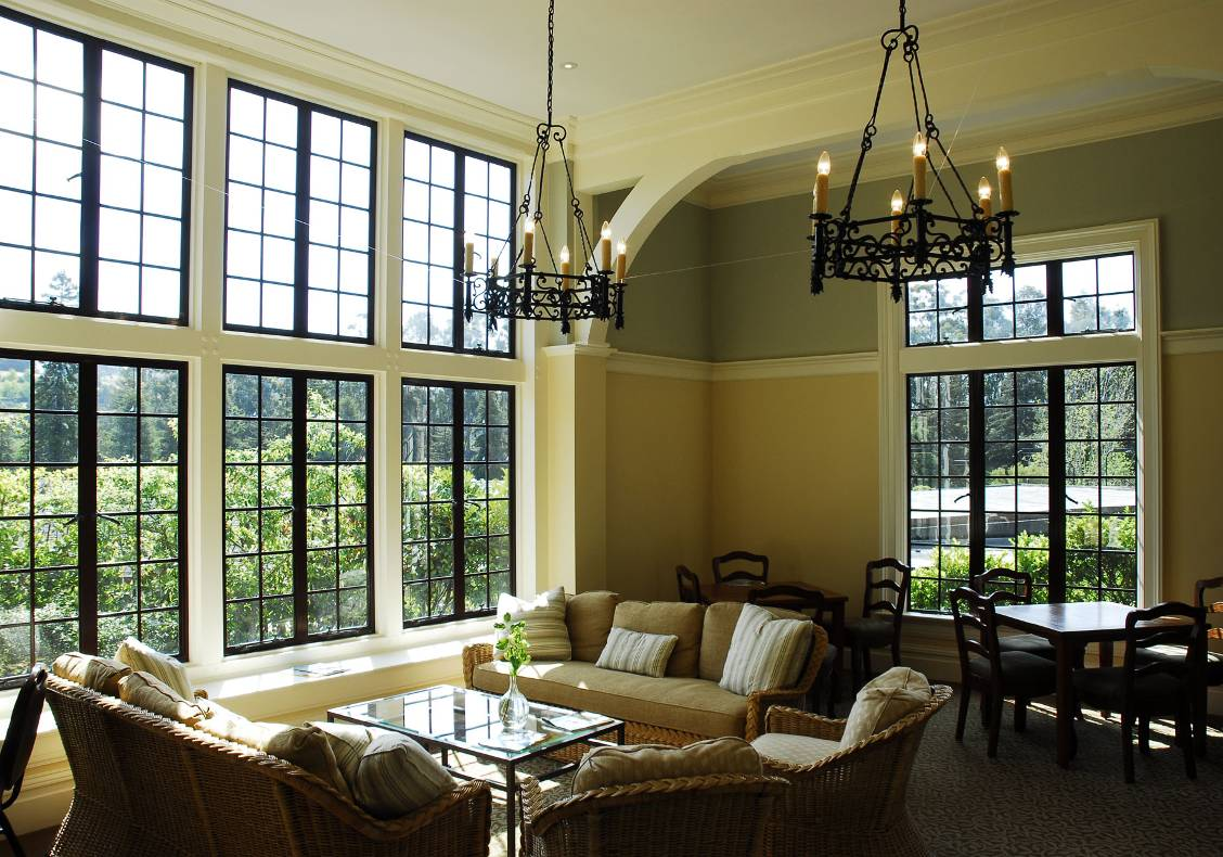 Another view of the new Women's Lounge offers a sense of tranquility and repose from the day's activities at the country club.
