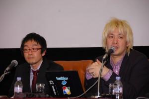 津田大介 メディアジャーナリスト、塚越健司 一橋大学大学院 写真 1