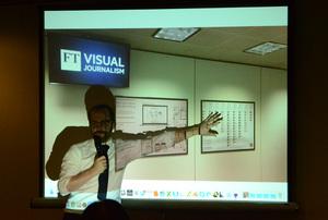 研究会「ニュースメディアとグラフィックス」アラン・スミス フィナンシャル・タイムズ データ可視化担当エディター 写真 6
