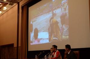 ロヒンギャ難民支援の日赤医療関係者 会見 写真 4
