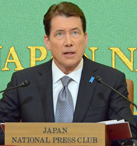 ハガティ 駐日米国大使 会見 写真 1