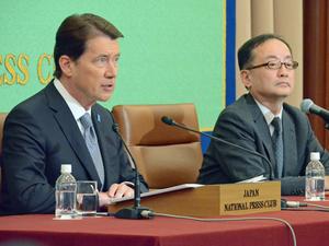 ハガティ 駐日米国大使 会見 写真 3
