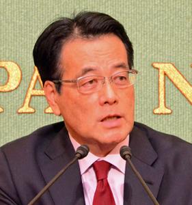 岡田克也 無所属の会代表・民進党常任顧問 会見 写真 1