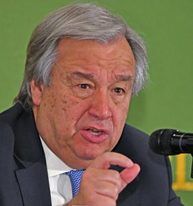 グテレス 国連事務総長 会見 写真 1