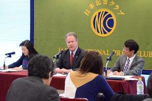 ビーズリー 国連WFP事務局長 会見 写真 3
