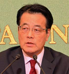 岡田克也 無所属の会代表・民進党常任顧問 会見 写真 2