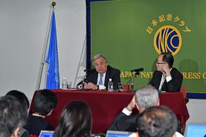 グテレス 国連事務総長 会見 写真 5
