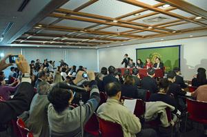 ベアトリス・フィン 「核兵器廃絶国際キャンペーン」(ICAN〈アイキャン〉)事務局長 会見 写真 4