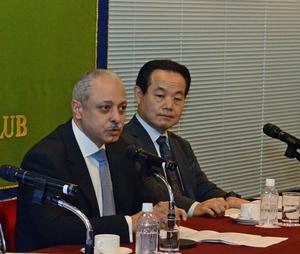 アイマン・アリ・カーメル 新駐日エジプト大使 会見 写真 3