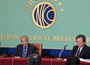 マハティール・マレーシア首相 会見 写真 3