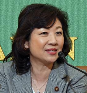 野田聖子・総務相 女性活躍担当 会見 写真 1