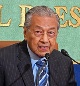 マハティール・マレーシア首相 会見 写真 2