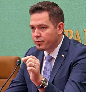 トゥドル・ウリアノブスキ・モルドバ外務・欧州統合相 会見 写真 2