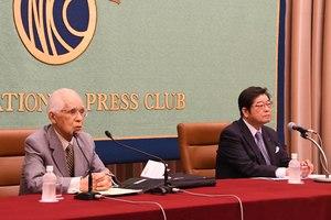 小和田恒・前国際司法裁判所判事 会見 写真 3