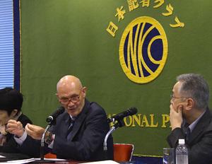 パスカル・ラミー 「パリ平和フォーラム」運営委員会委員長 会見 写真 3