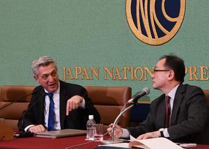 グランディ国連難民高等弁務官 会見 写真 3