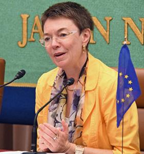 パトリシア・フロア・次期駐日欧州連合大使 会見 写真 2