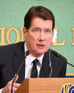 ハガティ駐日米国大使会見 写真 1