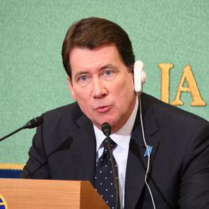 ハガティ駐日米国大使会見 写真 2