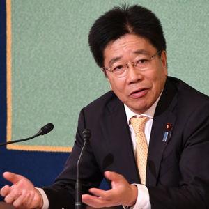 加藤勝信・自民党総務会長 会見 写真 2
