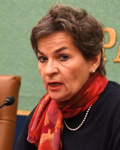 クリスティアナ・フィゲレス前国連気候変動枠組条約事務局長 会見 写真 2