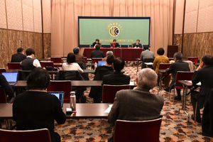 クリスティアナ・フィゲレス前国連気候変動枠組条約事務局長 会見 写真 4