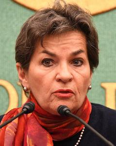 クリスティアナ・フィゲレス前国連気候変動枠組条約事務局長 会見 写真 1